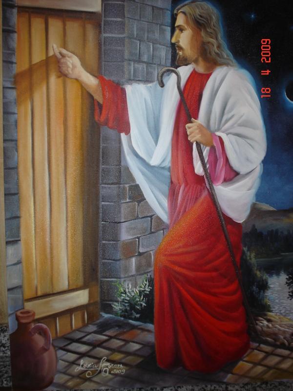 Professor gilberto a cantu por qu nesta pintura o for Jesus a porta