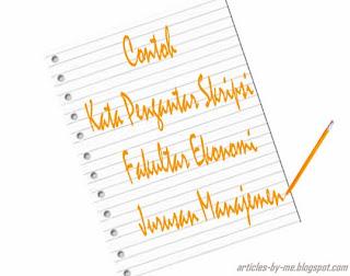Contoh Kata Pengantar Skripsi Jurusan Manajemen