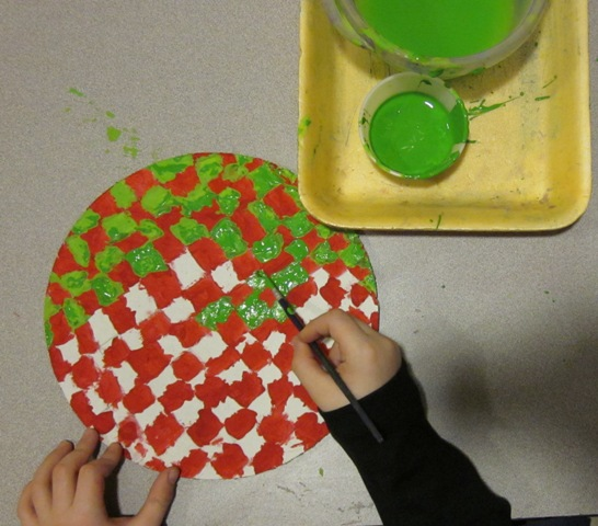 WES Kindergarten Art OP ART Using Complementary Colors