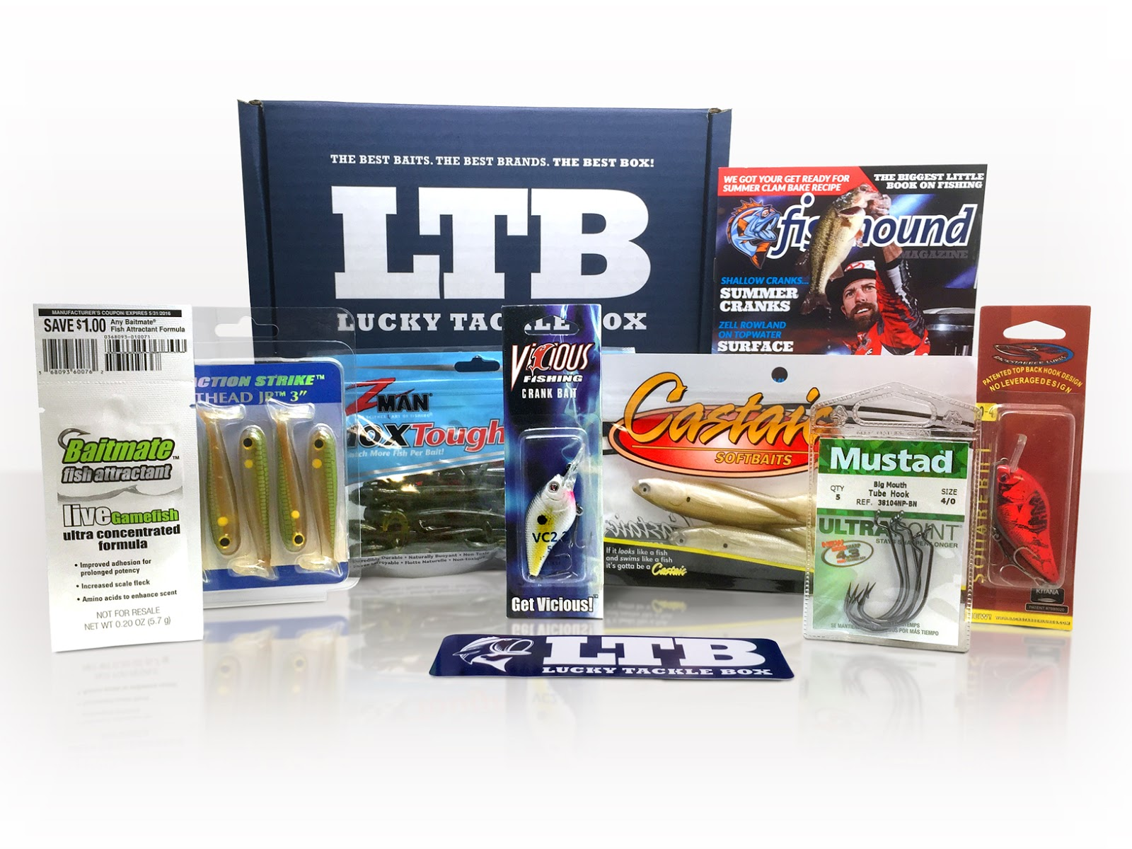 June 2015 lucky tackle box bass fishing lucky tackle box for Monthly fishing box