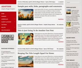 Adaption Template Blogspot