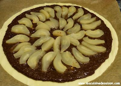 Recette de la galette des rois poires chocolat