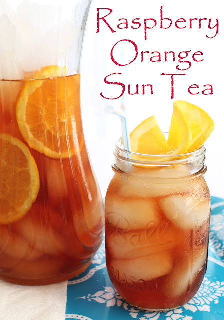 Raspberry Orange Sun Tea