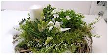Deko weiß/grün
