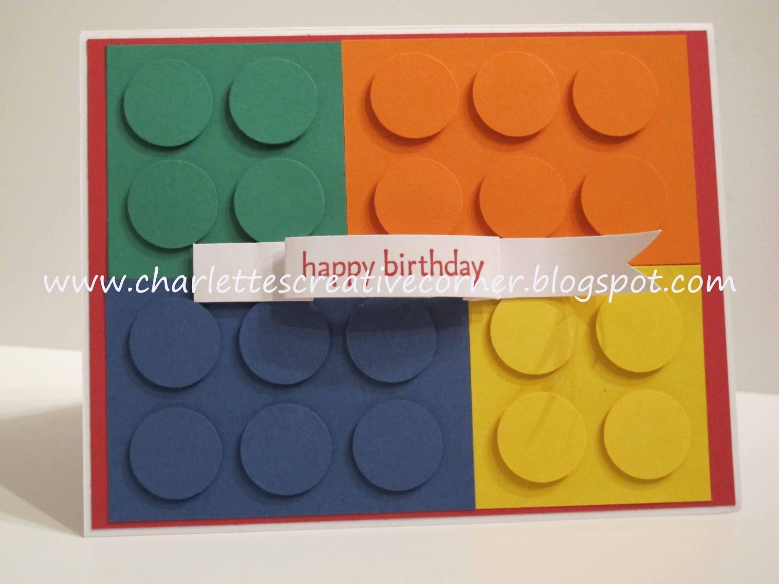Charlettes creative corner lego birthday card lego birthday card bookmarktalkfo Image collections