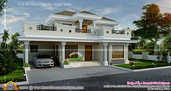 Stylish house exterior design