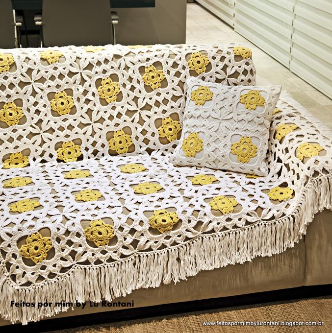 Feitos por mim by lu rontani mantas para sof em croch - Mantas para el sofa ...