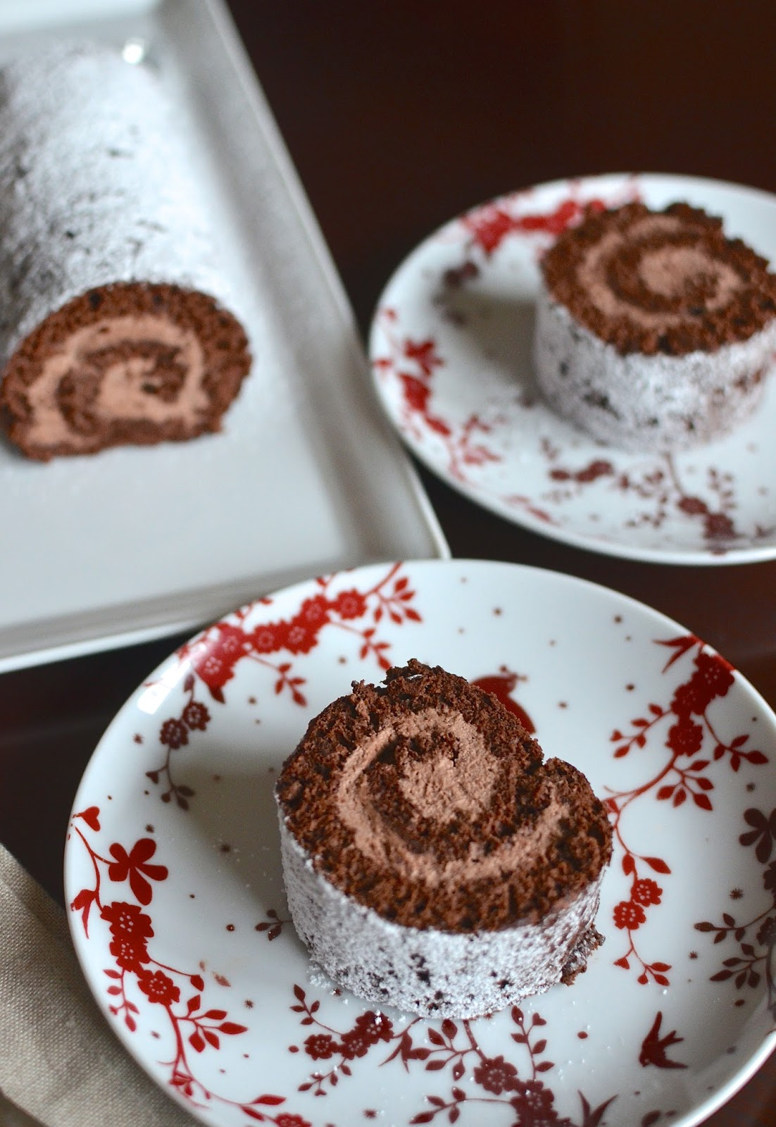 Playing with Flour: Chocolate roll cake with mocha cream filling