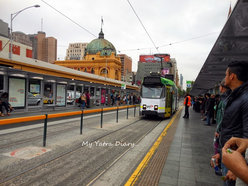 Tram stop, Melbourne Victoria Australia