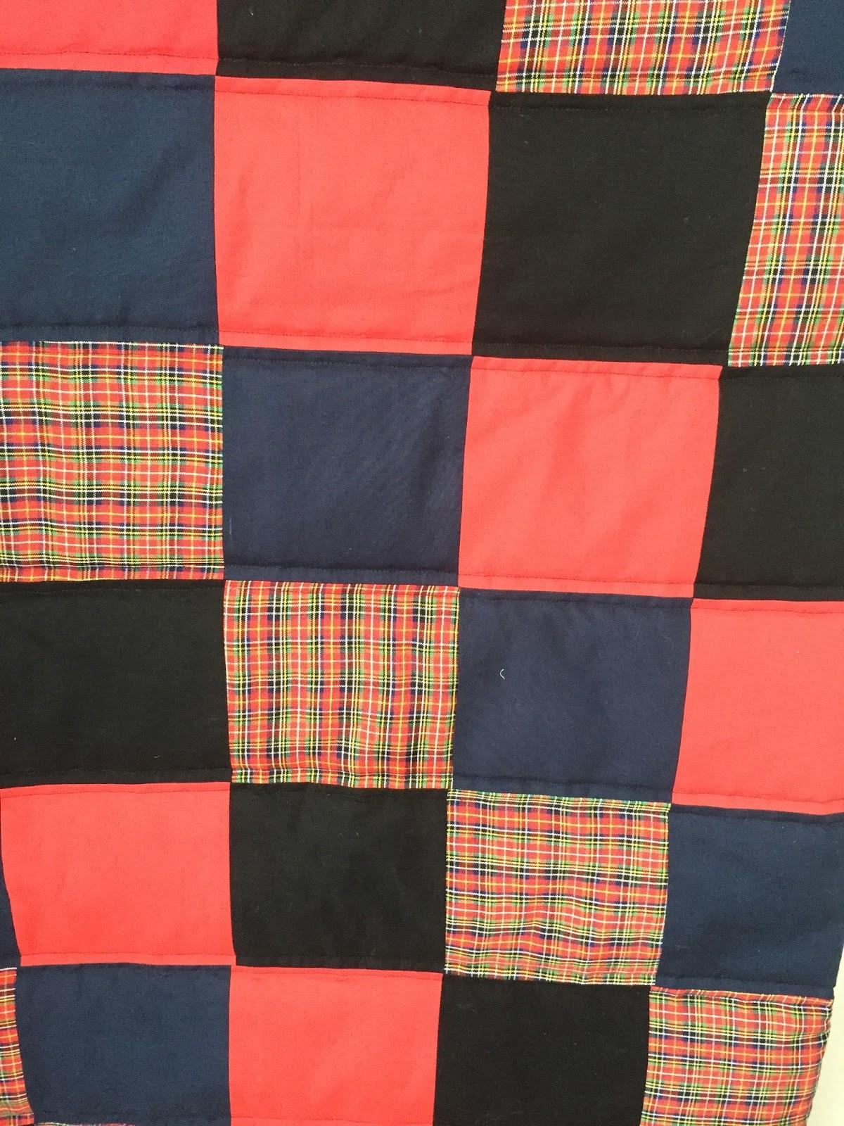 Die Landgräfin: Männer-Quilt im Schottenmuster