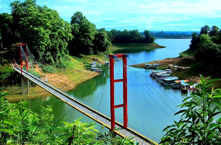 Hanging bridge of Rangamati.