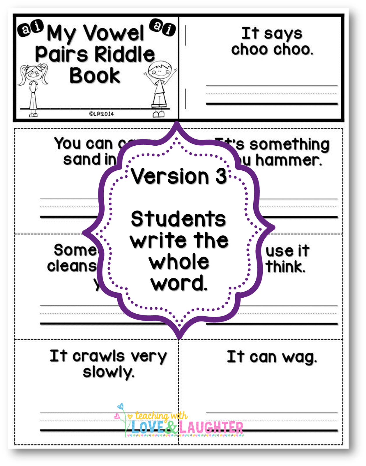 Teaching With Love And Laughter Flip Books For Vowel Pairs