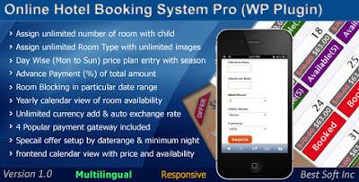 Download Online Hotel Booking System Pro WordPress Plugin