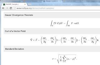 Google Chrome MathML Support