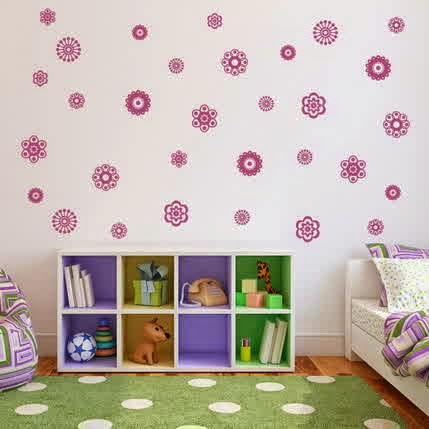 easy beautiful wall stickers mural for kids bedroom