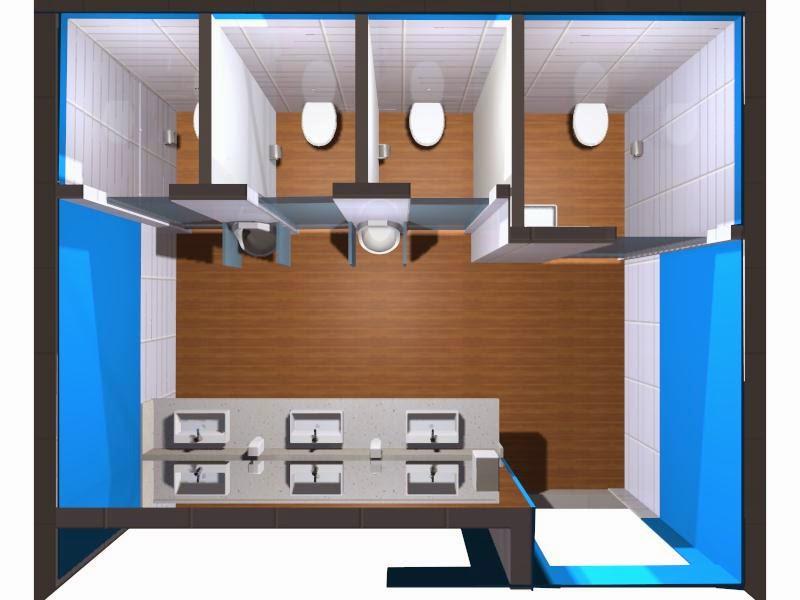 Decoração de Interiores Projeto Banheiro Masculino do XIX concurso Deca -> Banheiro Feminino E Masculino Planta