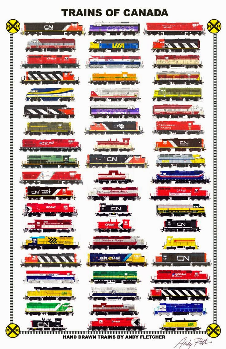 Trains of Canada by Andy Fletcher