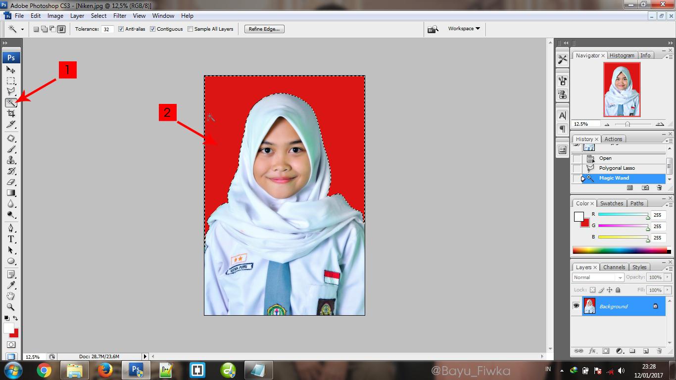 Cara merubah warna background pas foto dengan photoshop cs4 99