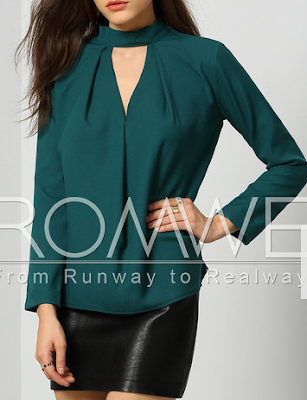 www.romwe.com/Dark-Green-Mock-Neck-Cut-Out-Front-Blouse-p-143295-cat-670.html?utm_source=simply2wear.com&utm_medium=blogger&url_from=simply2wear