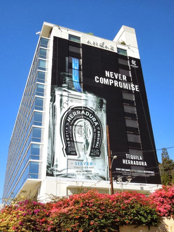 Giant Tequila Herradura billboard Andaz Hotel