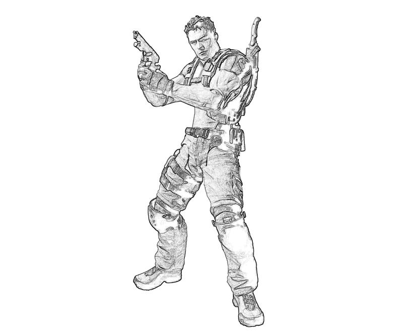 resident-evil-chris-redfield-profil-coloring-pages