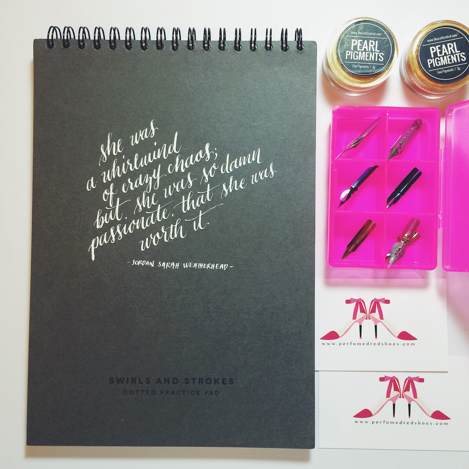 Getting Started With Modern Calligraphy Perfumed Red