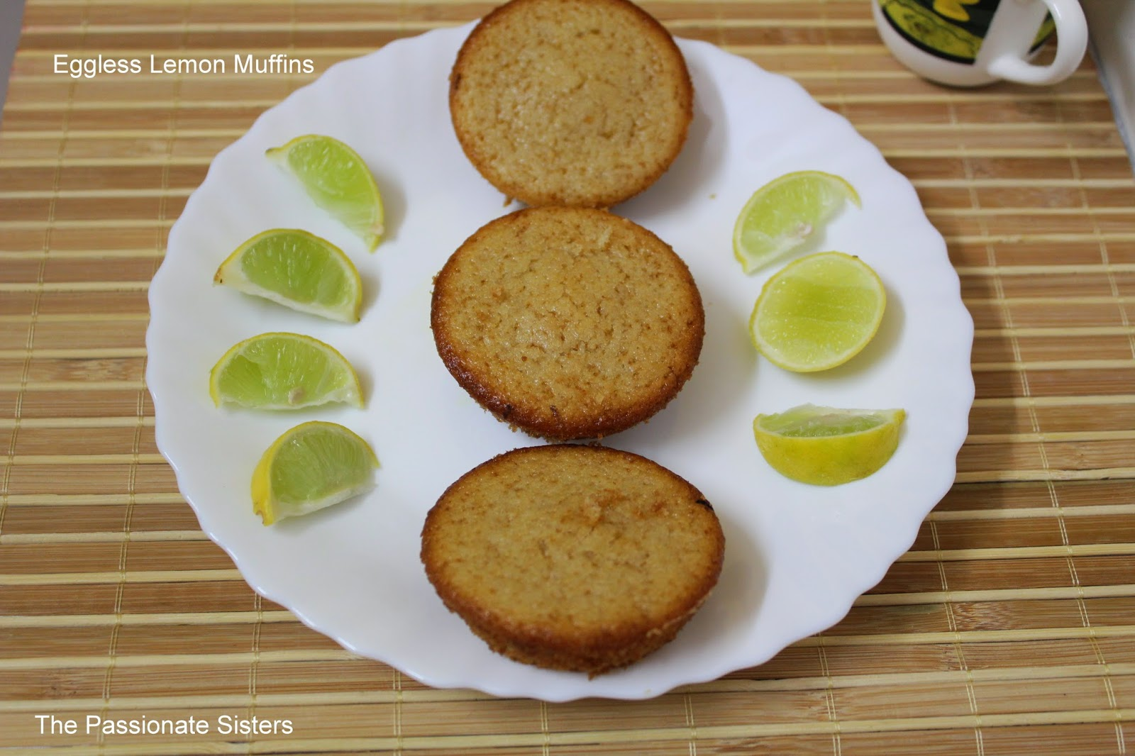 Eggless whole wheat lemon muffins