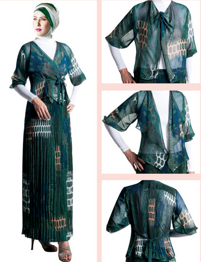 Fashion Desain Baju Muslim Brokat 2015