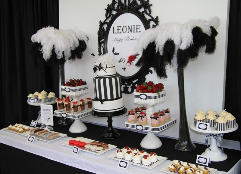 Leonie S Cakes And Parties Leonie S 40th Fancy