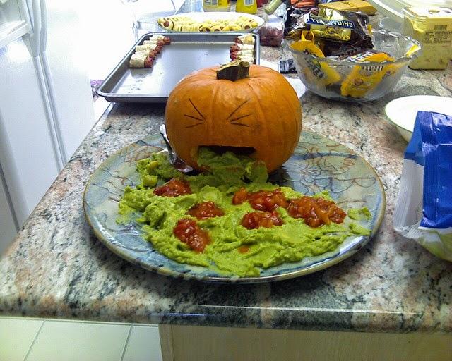 pumpkin puking guacamole