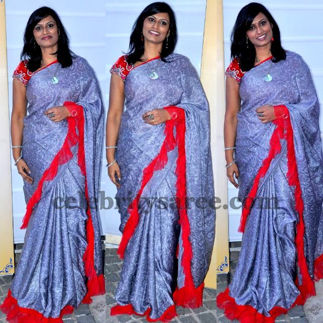 Singer Kausalya in Brasso Saree