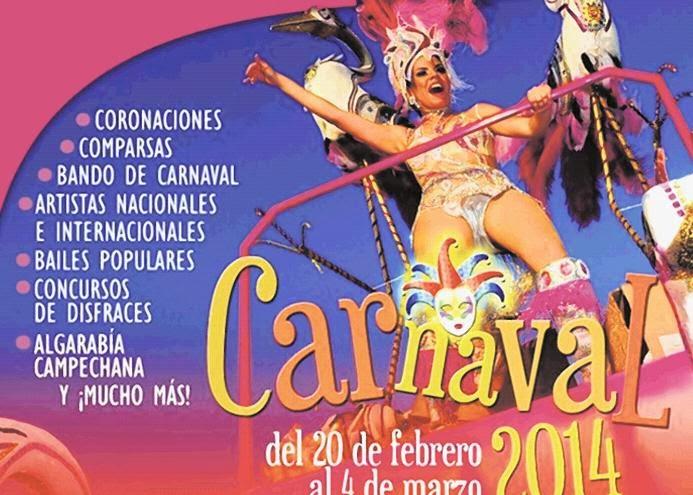 programa Carnaval Campeche 2014