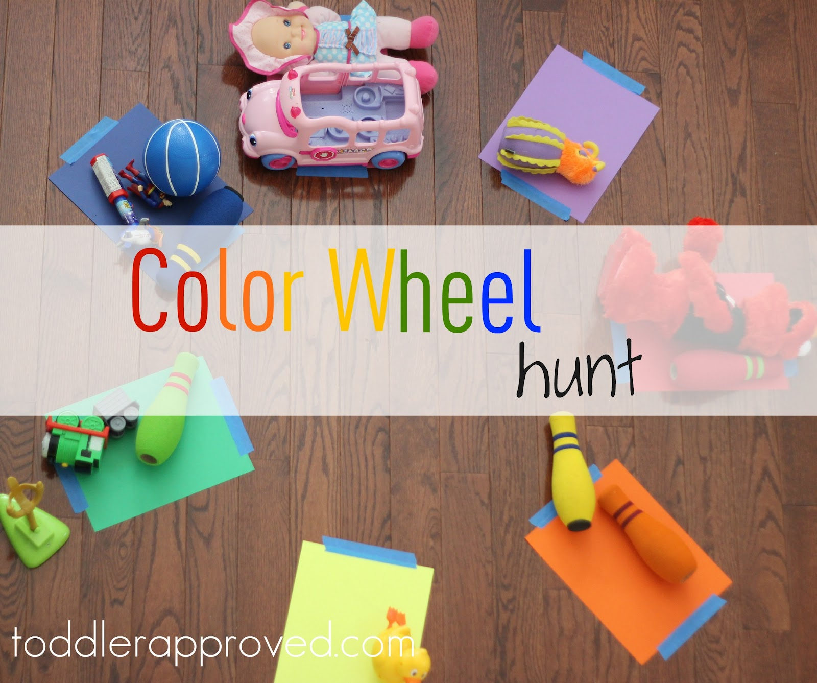 color wheel hunt - Colour Activities For Preschoolers