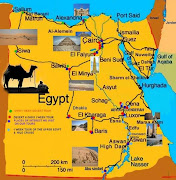 Egypt Map Pictures and Information (egypt tourist map)