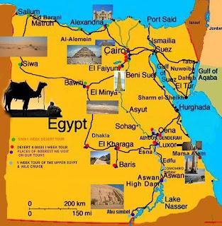 Egypt Tourist Map
