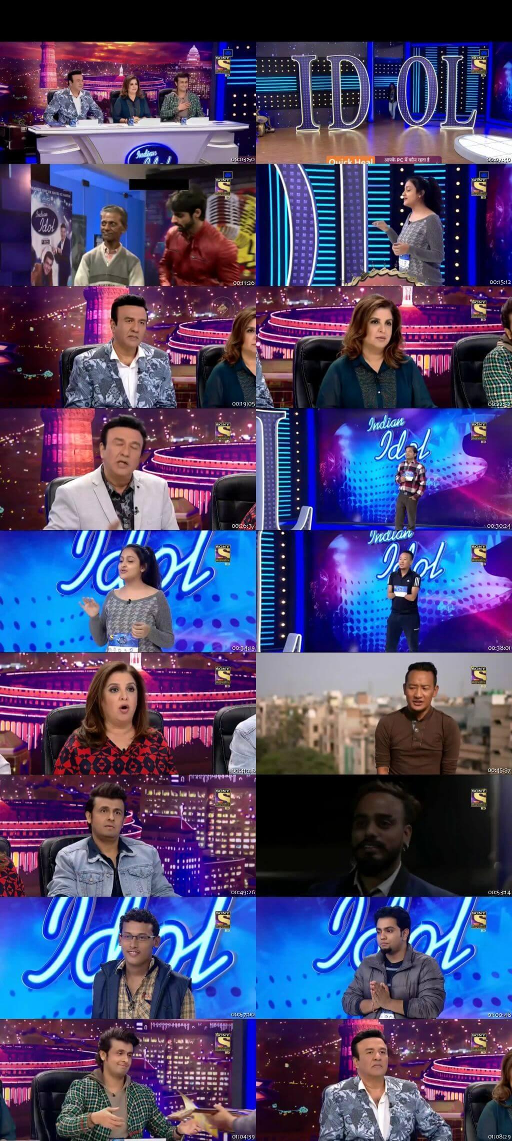 Screenshots Of Hindi Show Indian Idol 24th December 2016 Episode 01 300MB 480P HD