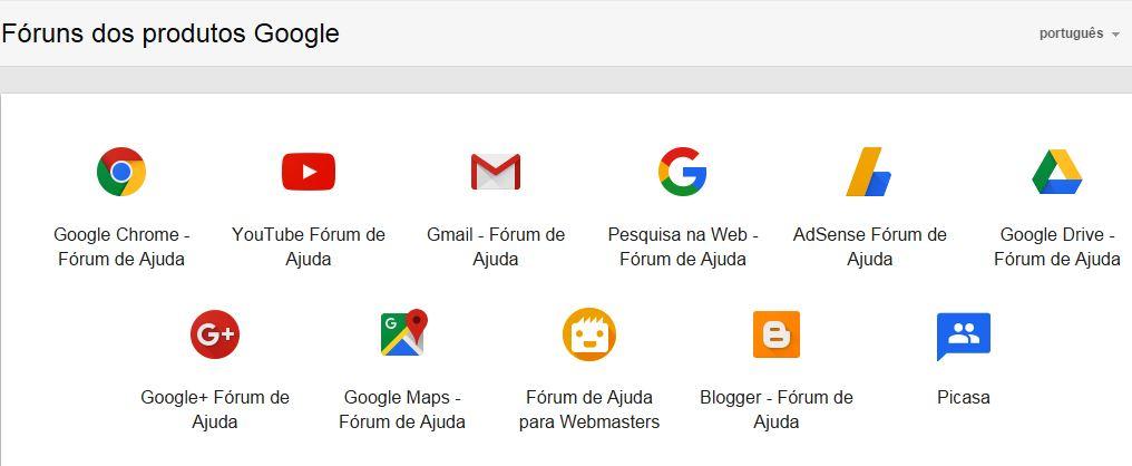 Fóruns dos Serviços Google