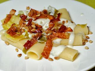 rigatoni speck et gorgonzola