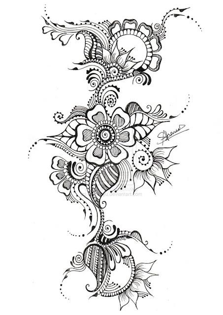 Maori Tribal Flower Tattoos