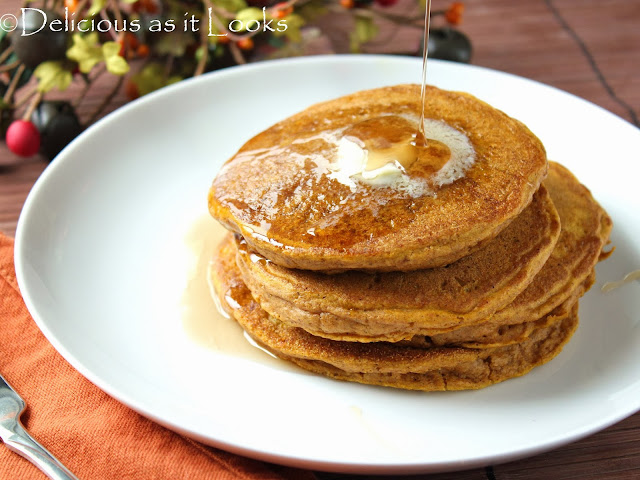 Gluten-Free Pumpkin Pancakes | Delicious as it Looks