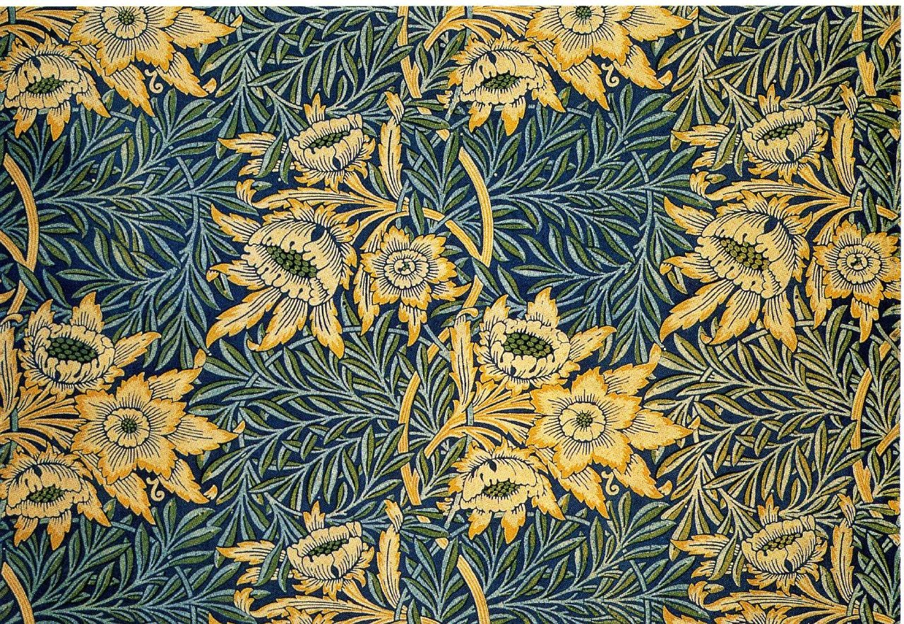 William morris el movimiento arts and crafts y el inicio for Arts and crafts style prints