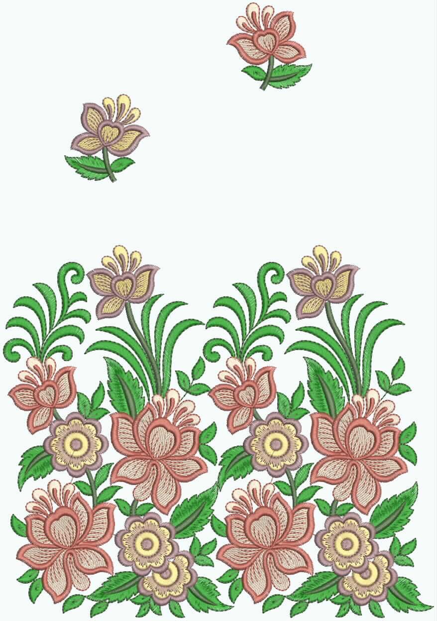 Embdesigntube Patch Border Embroidery Designer Sarees