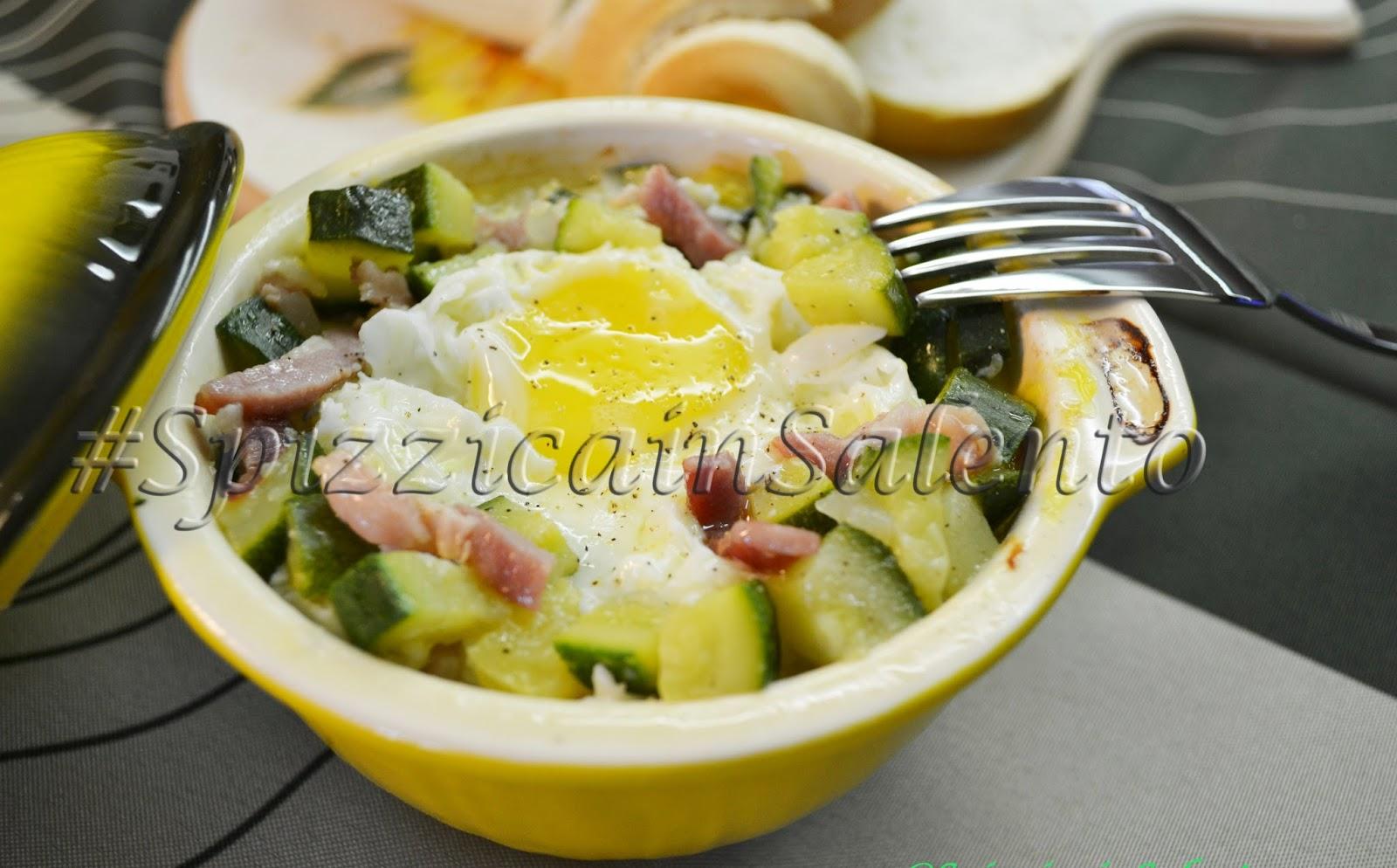 uovo in cocotte con zucchine & pancetta
