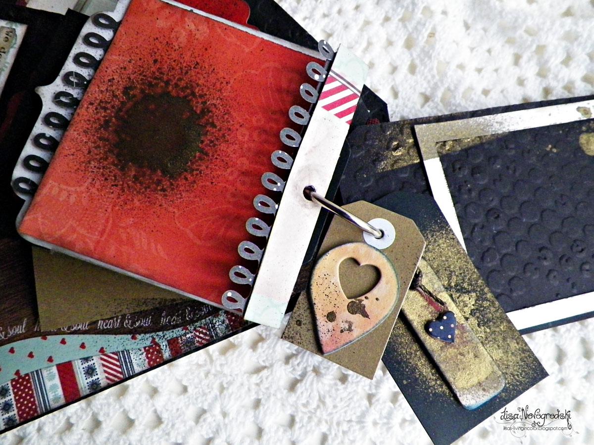 Tag Mini Album by Lisa Novogrodski for BoBunny using the Star Crossed Collection