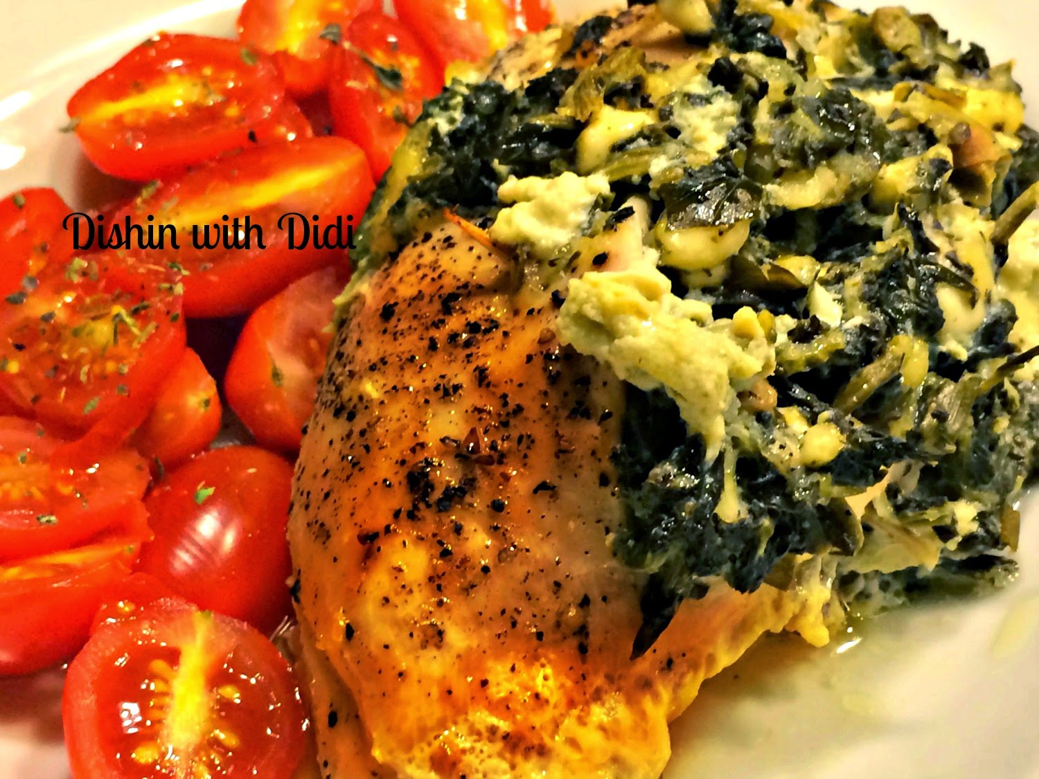 Baked Spinach Feta Cheese Stuffed Chicken Breasts Low Carb Super Easy Weeknight Dinner