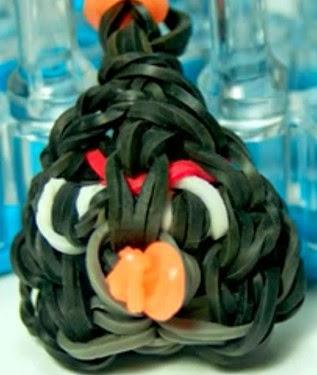Cómo hacer un angry bird negro con gomitas de colores