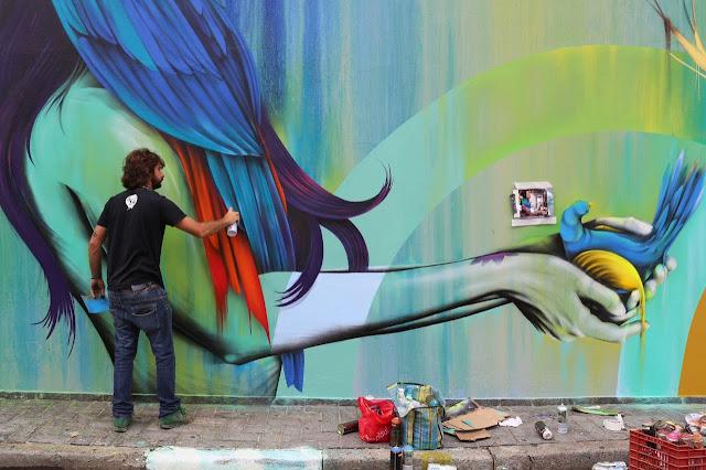 New StreetArt Collaboration By Fin DAC, Angelina Christina and Nove DigitalOrganico in Vila Madalena, Sao Paulo  4