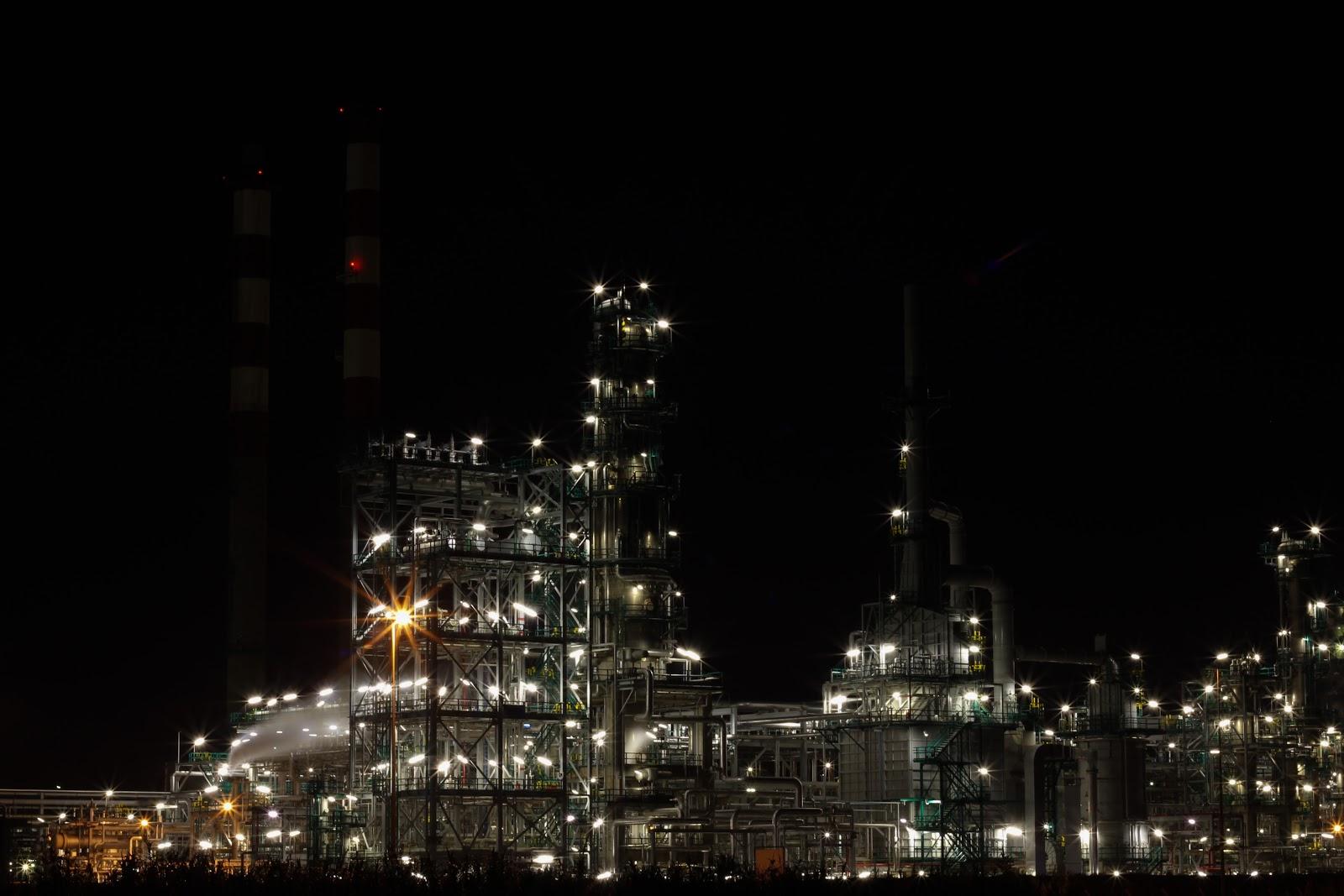 Indústria à noite