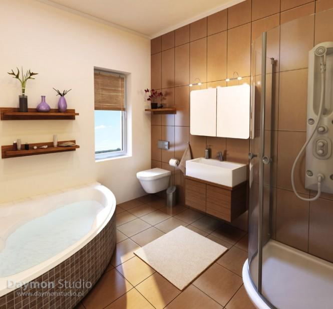 Baños Modernos Beige:Diseño de Baños Modernos Beige y Chocolate