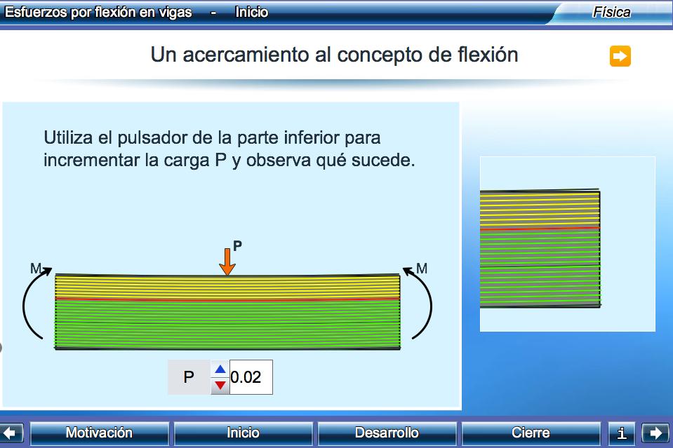 http://proyectodescartes.org/Un_100/materiales_didacticos/_Un_072_EsfuerzosPorFlexionEnVigas/index.html